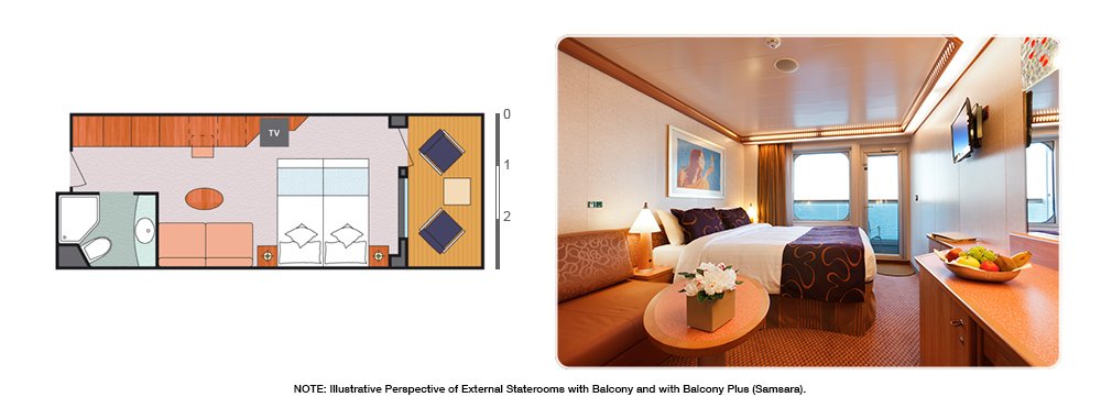 EXTERNAL CABIN/STATEROOM WITH BALCONY and PLUS